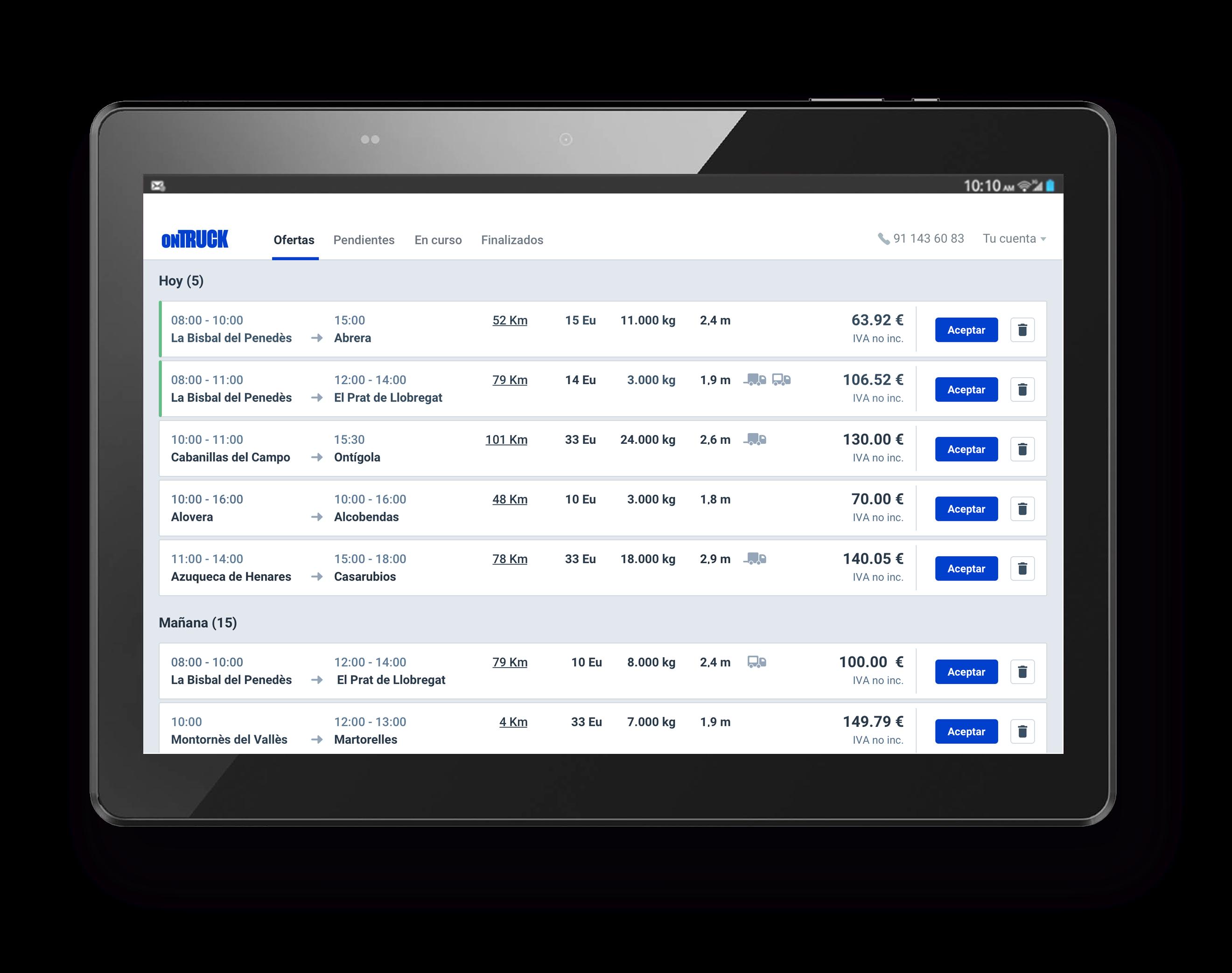 Foto de Ontruck lanza una herramienta web que permite a las flotas