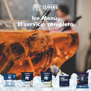Ice Menu de Cubers: cinco variedades de hielo premium a domicilio y