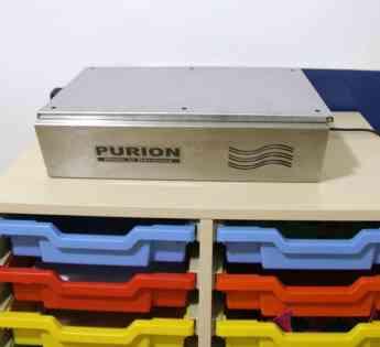 Foto de Purificador de aire con lámparas ultravioleta en el interior