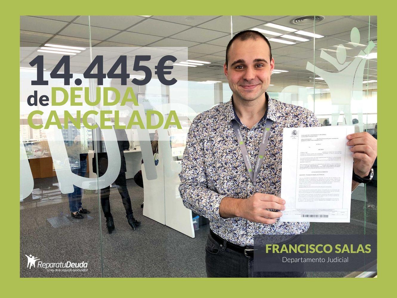 Repara tu Deuda Abogados cancela 14.445 euros con 17 bancos y financieras con la Ley de Segunda Oportunidad