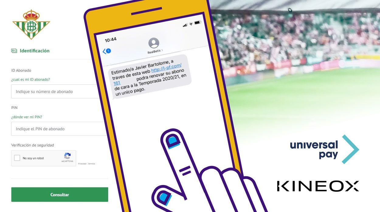 Foto de Kíneox y UniversalPay: pago digital abonos Betis