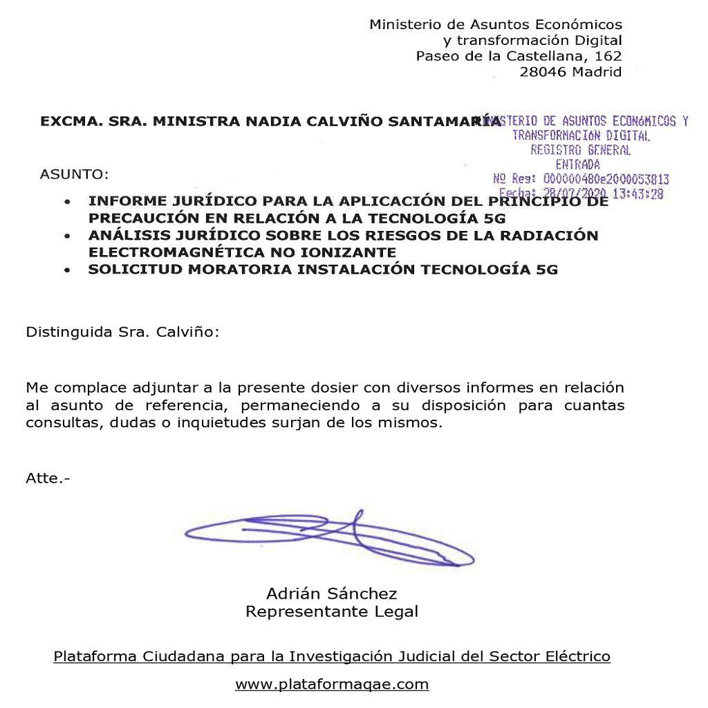 Foto de Petición al Gobierno de una Moratoria del 5G