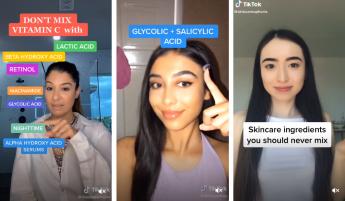 Imágenes de TikTok con consejos cosméticos