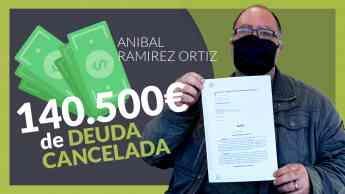Aníbal Ramirez cancela todas sus deudas con Repara tu deuda abogados