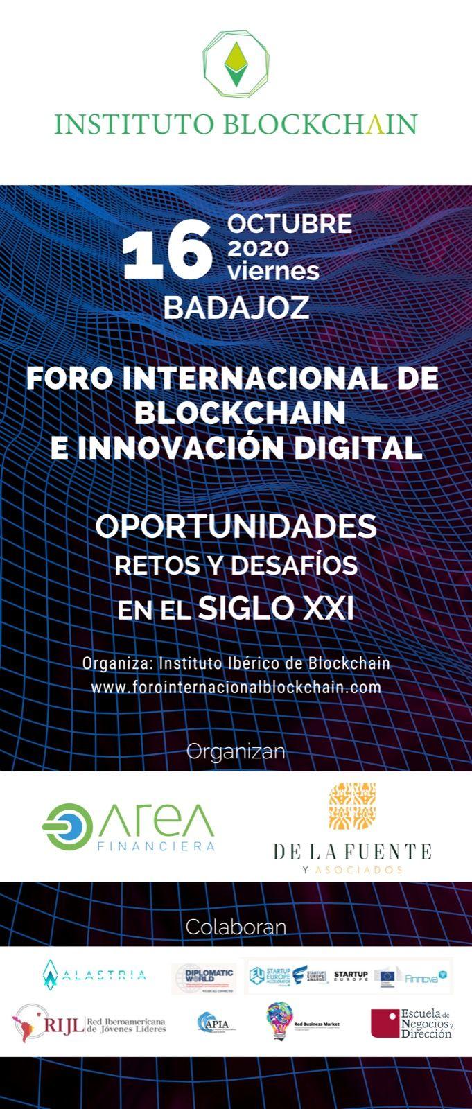 Fotografia Foro Internacional de Blockchain e Innvocación