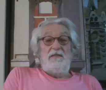 Foto de Oscar Tusquets, durante la conferencia