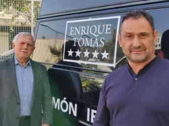 Foto de Enric Crous y Enrique Tomás en la nueva SEDE