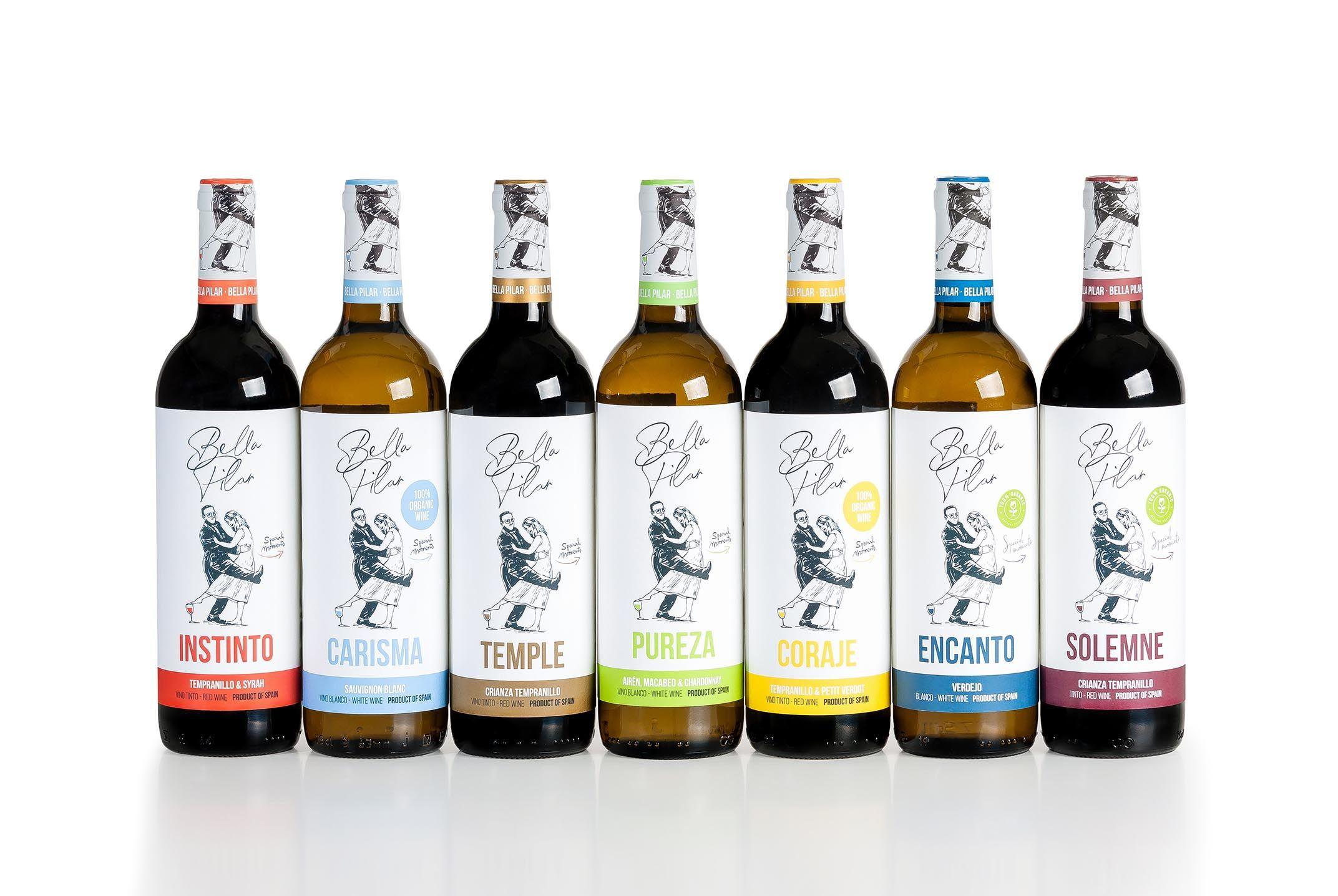 Foto de La gama de vinos Bella Pilar