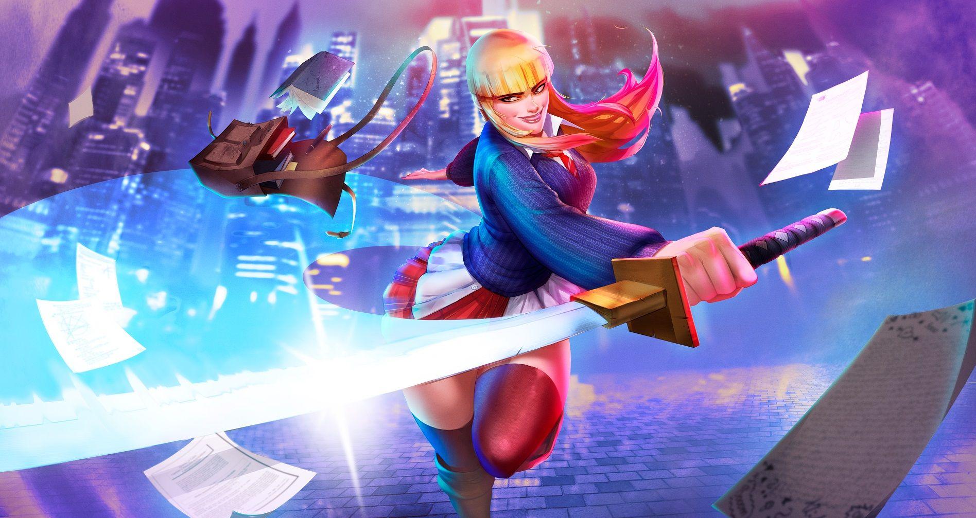 Foto de Uno de los personajes del videojuego The Immortal Mystics.