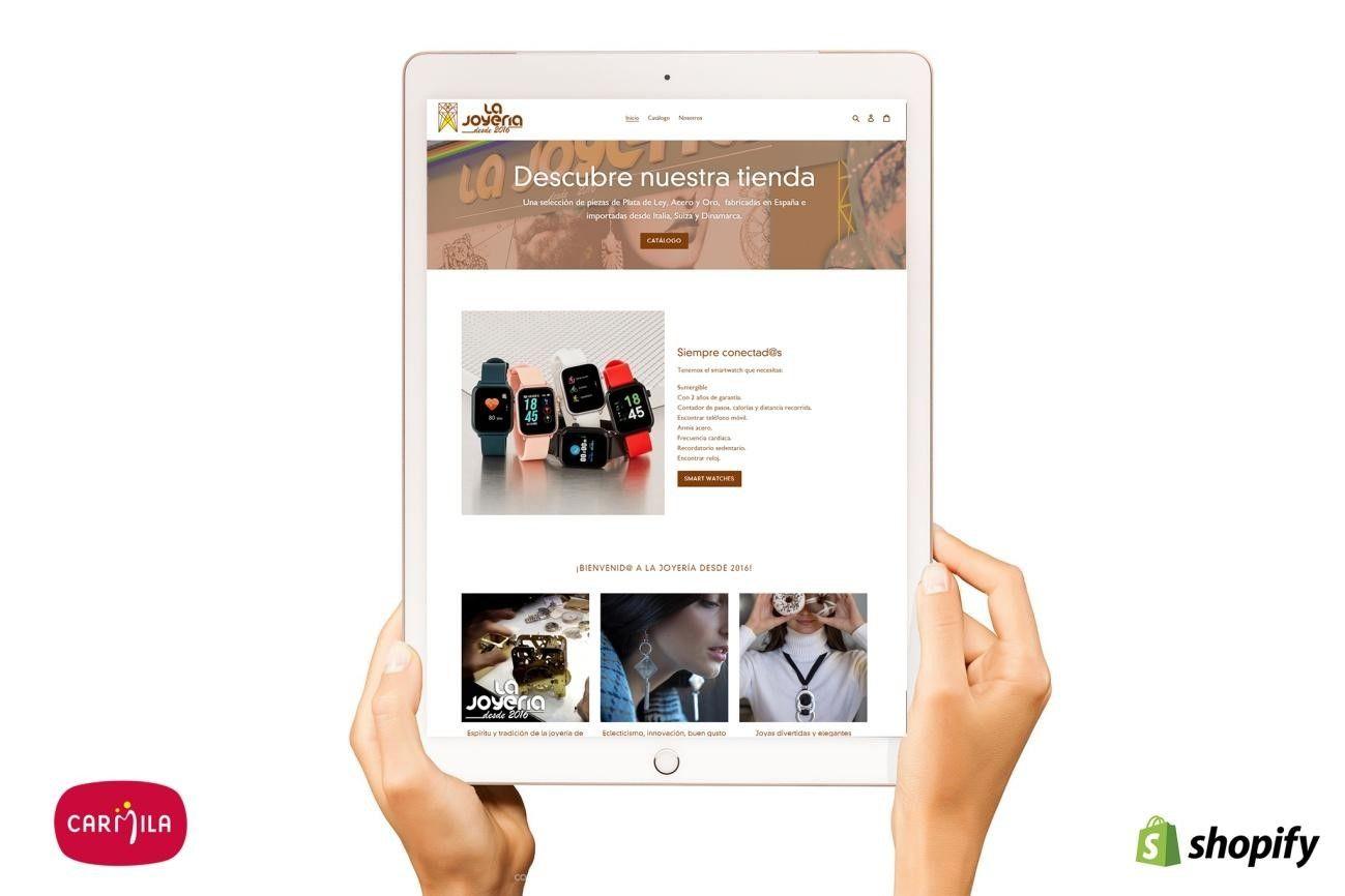 Foto de Ejemplo de creación de ecommerce a La Joyería desde 2016