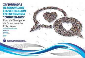 Portada programa XIV Jornadas de Innovación e Investigación enfermera del COEGI.