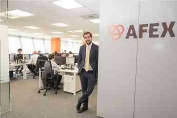 Fernando Cid, Country Manager de AFEX España, en las oficinas de Madrid.