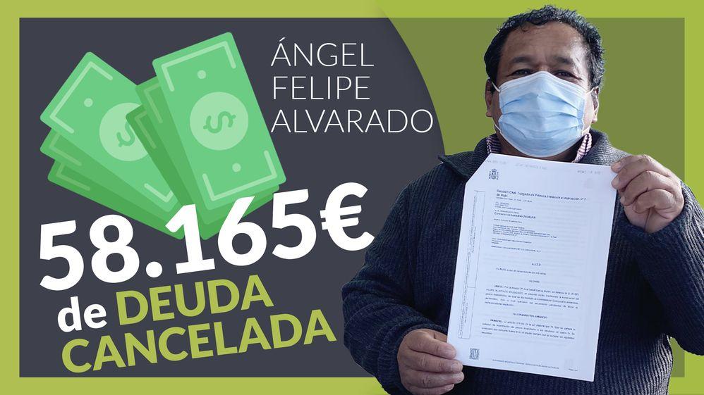 Foto de Angel Felipe, ha cancelado todas sus deudas gracias a Repara