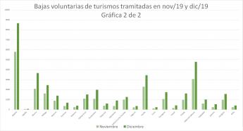 Foto de Bajas voluntarias de turismos nov/19 y dic/19 (Gráfica 2)