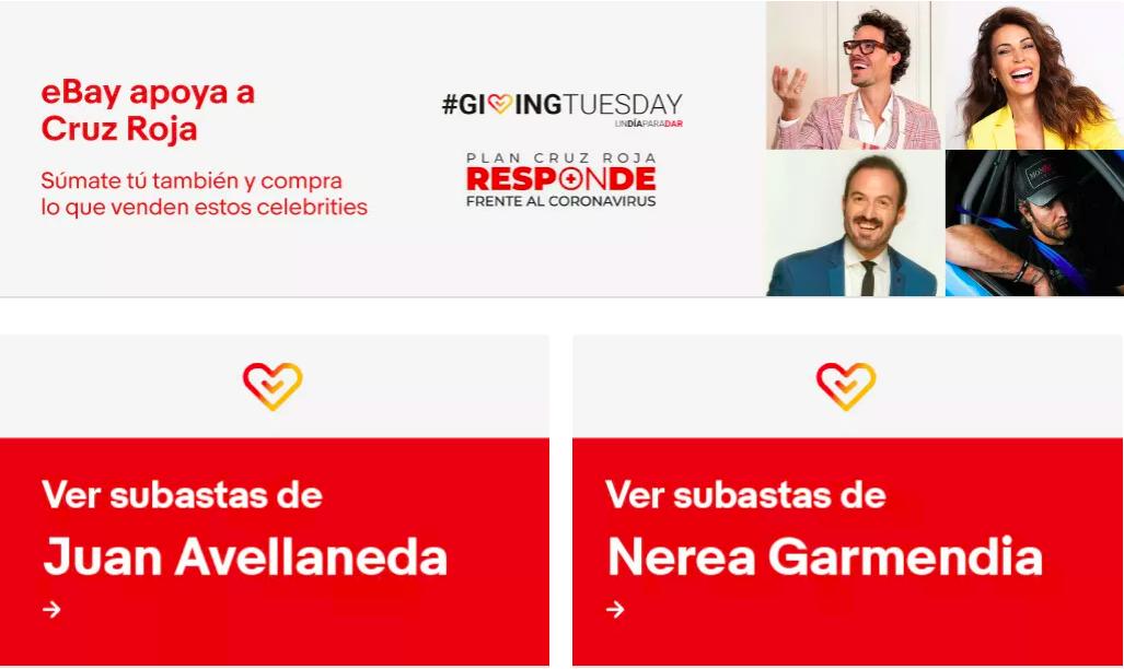 eBay Solidario se une a Giving Tuesday para apoyar el Plan Cruz Roja Responde