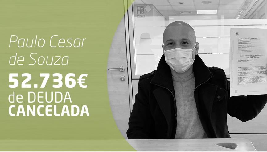 Foto de Paulo Cesar, cancela todas sus deudas con Repara tu deuda