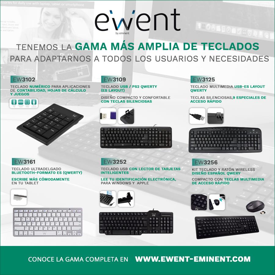 Ewent da las claves para elegir el teclado que mejor se adapta a las necesidades de cada usuario