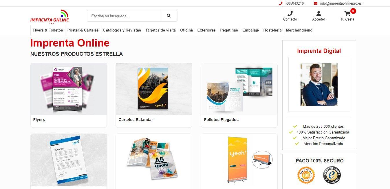 www.imprentaonlinepro.es, calidad y mejores precios en un sector que mueve millones de euros anuales