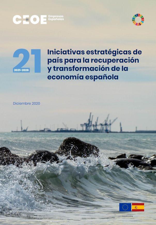 21 iniciativas estratégicas de país para la recuperación y transformación de la economía española