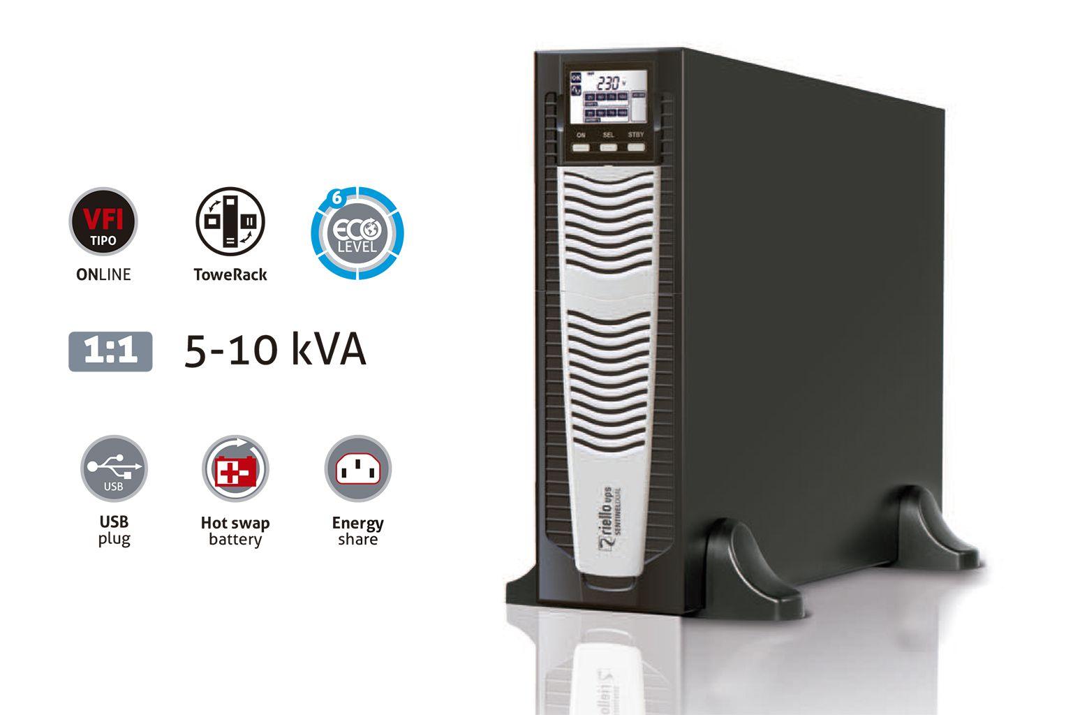 Sentinel Dual es la nueva gama de SAIs SDU para aplicaciones vitales de Riello UPS