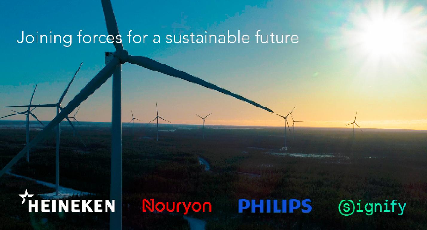 Más energía renovable: Philips, HEINEKEN, Nouryon y Signify forman el primer consorcio Pan-Europeo