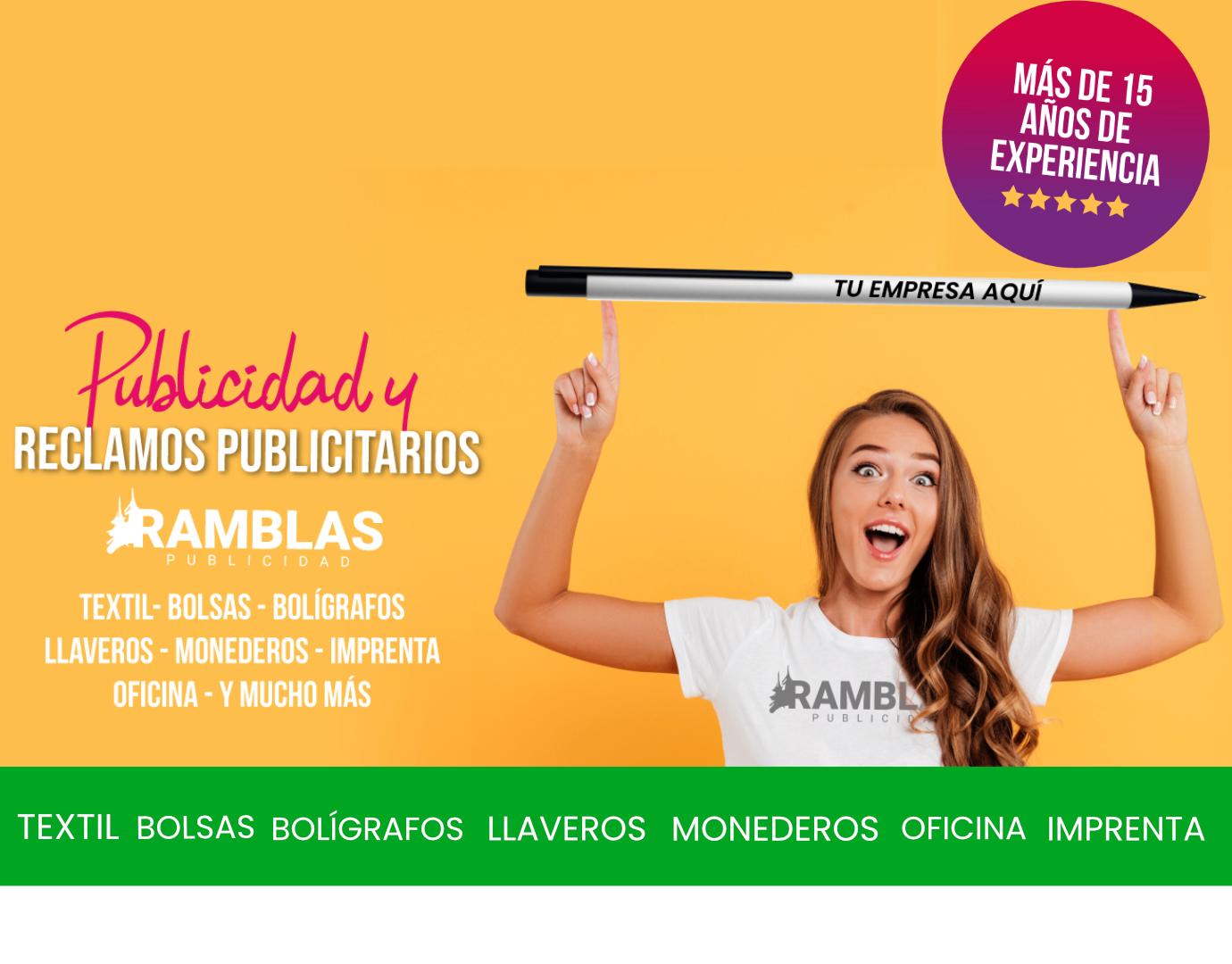 Ramblas Publicidad empresa especialista en merchandising personalizado
