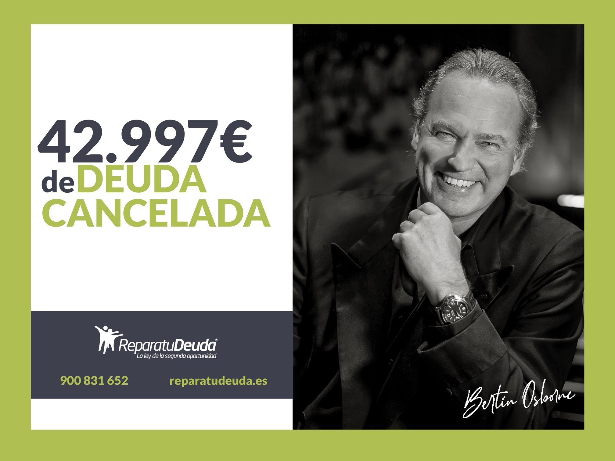Repara tu Deuda abogados cancela una deuda de 42.997 ? en Madrid con la Ley de Segunda Oportunidad