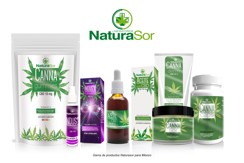 Fotografia Gama de productos Naturasor para su comercialización en
