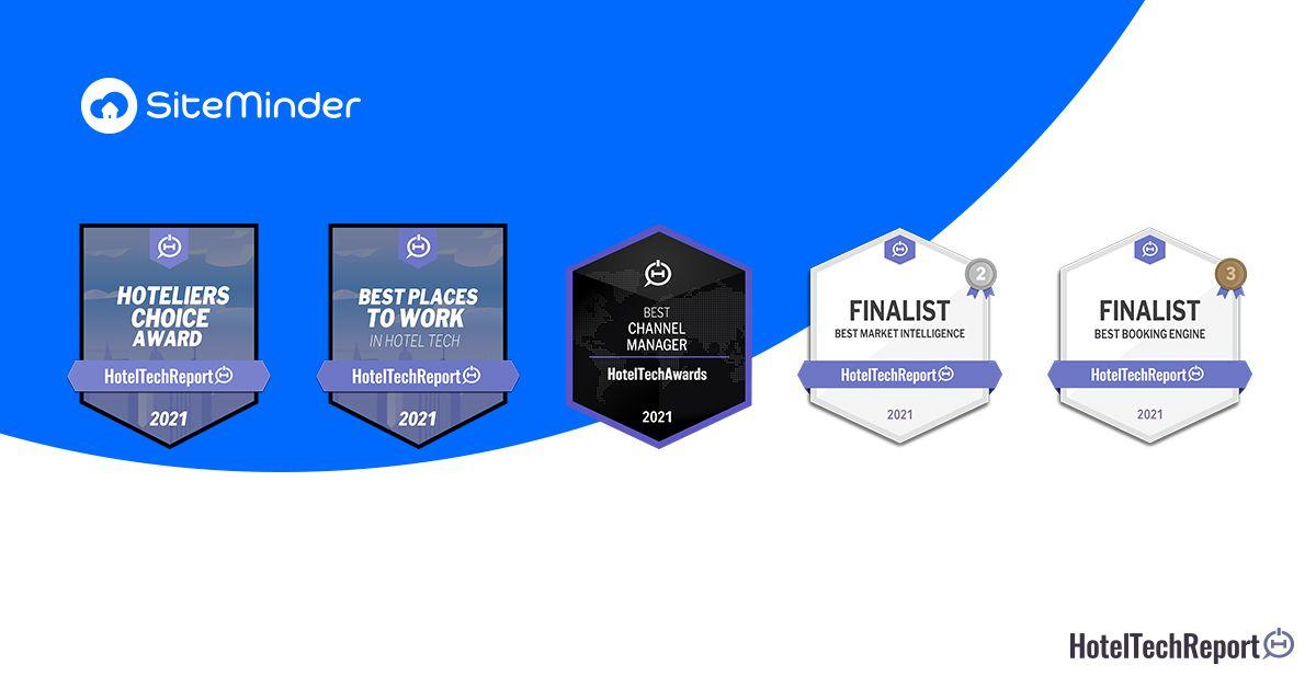 SiteMinder copa los premios HotelTechAwards 2021