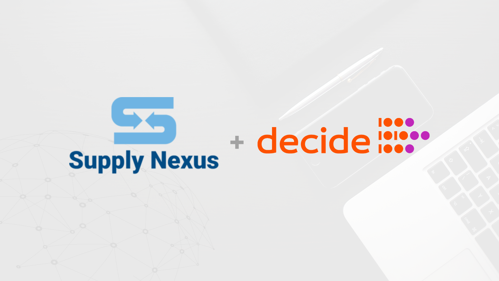 Foto de SUPPLY NEXUS Y DECIDE4AI FIRMAN UNA ALIANZA PARA LIDERAR LA