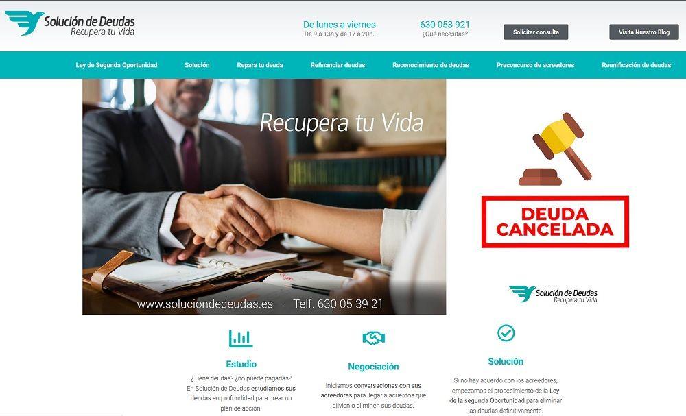Foto de Nueva web de Soluciondedeudas.es