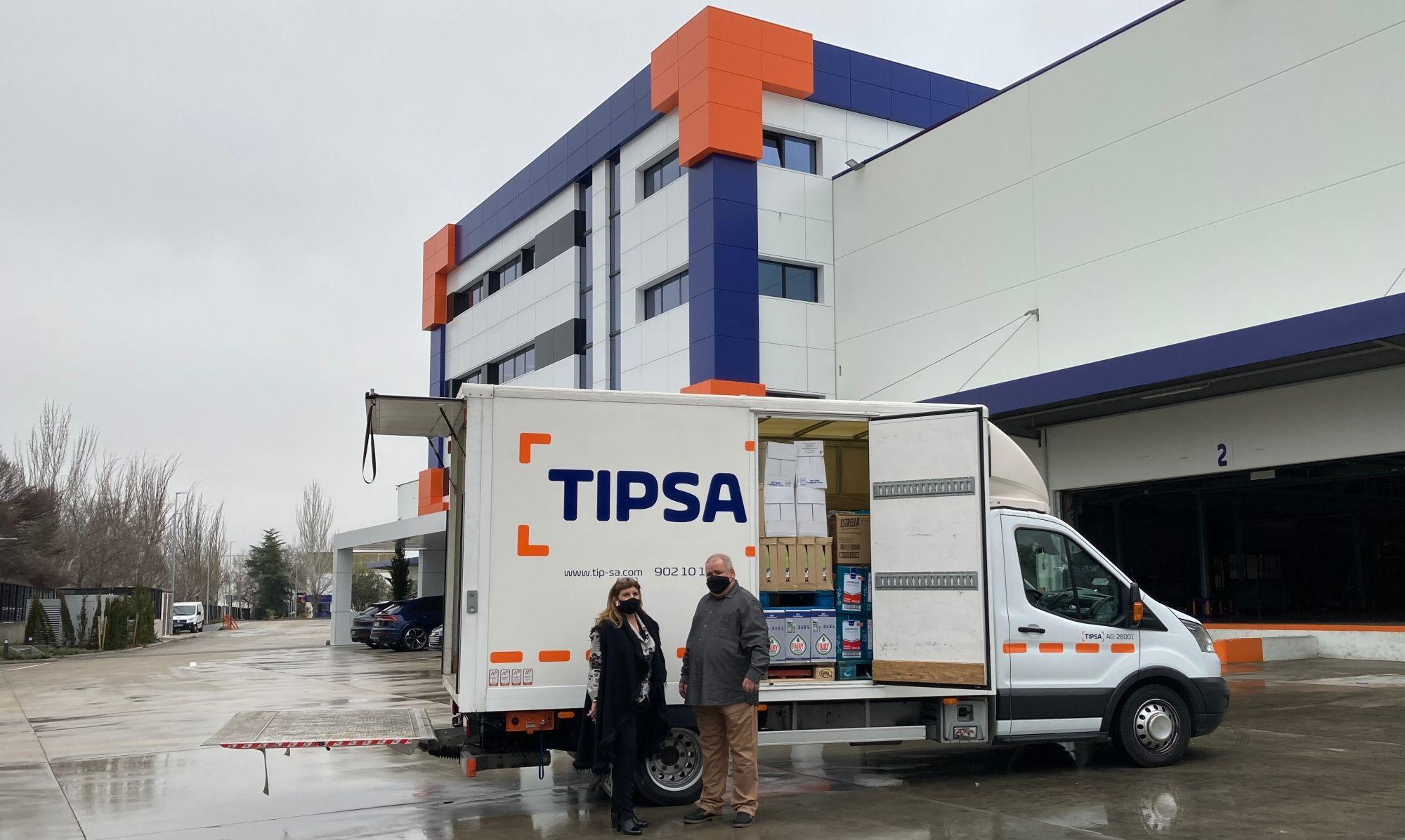 Foto de Cierre campaña sobres solidarios TIPSA