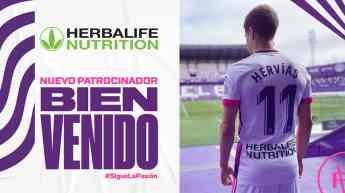 Herbalife Nutrition, nuevo patrocinador del Real Valladolid