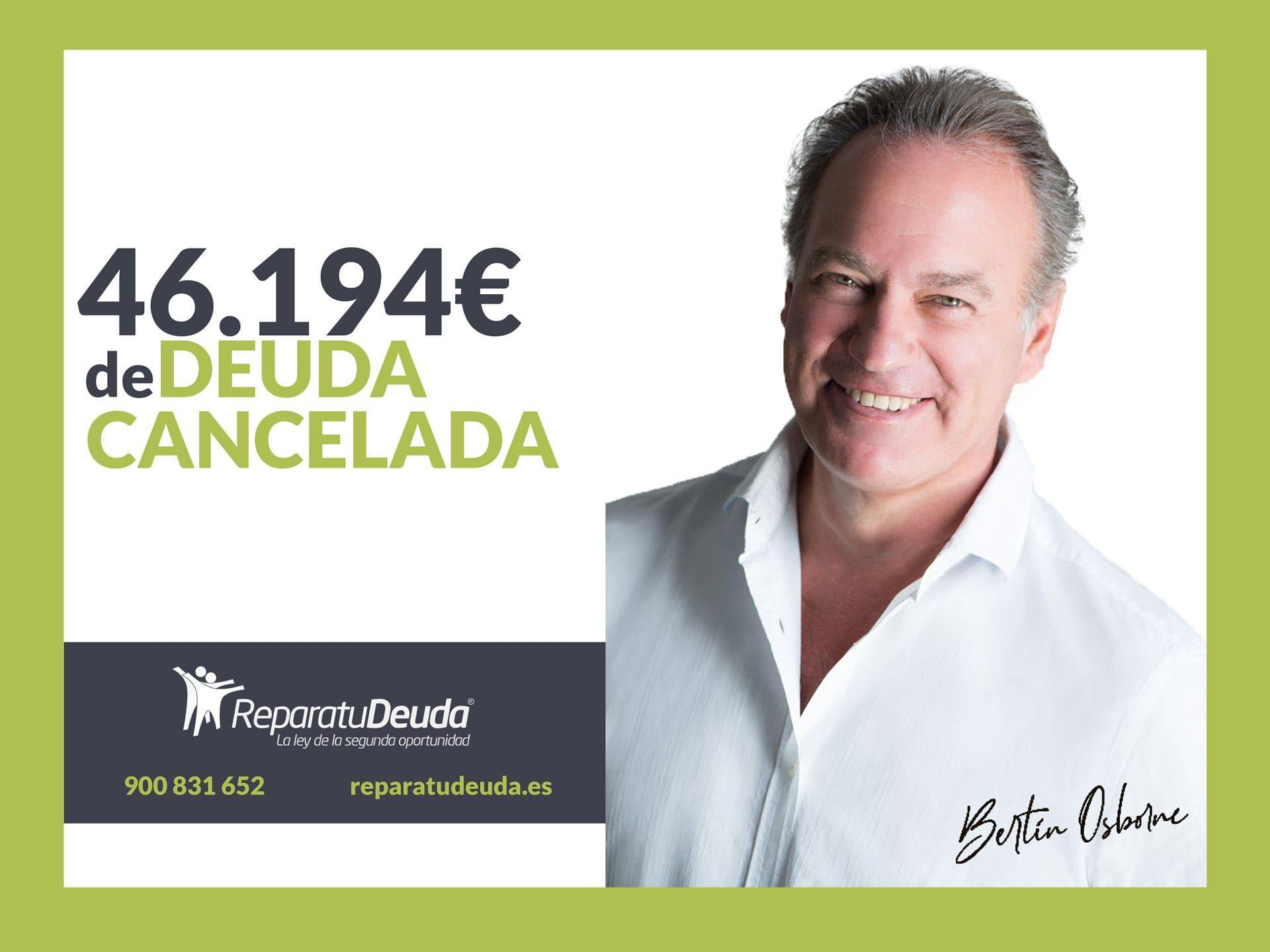 Repara tu Deuda Abogados cancela 46.194 ? en Terrassa (Barcelona) con la Ley de Segunda Oportunidad
