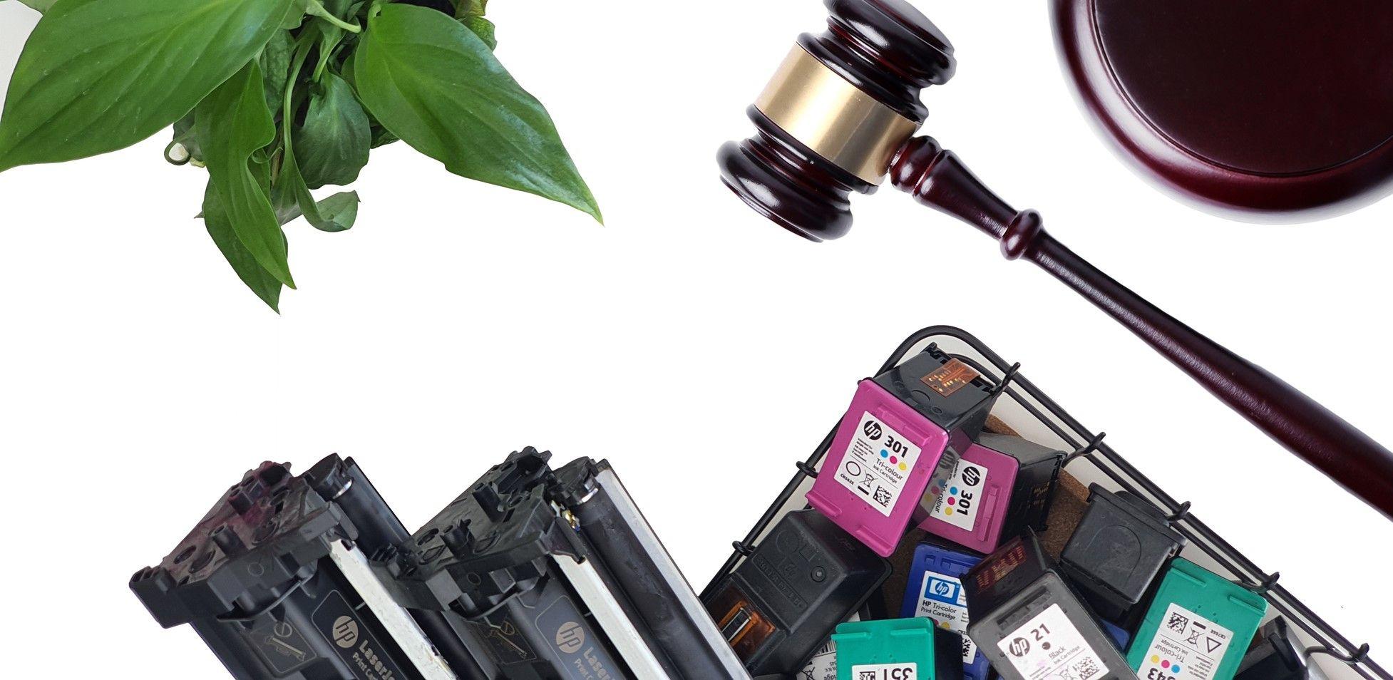 Fotografia Gestion legal cartuchos vacios