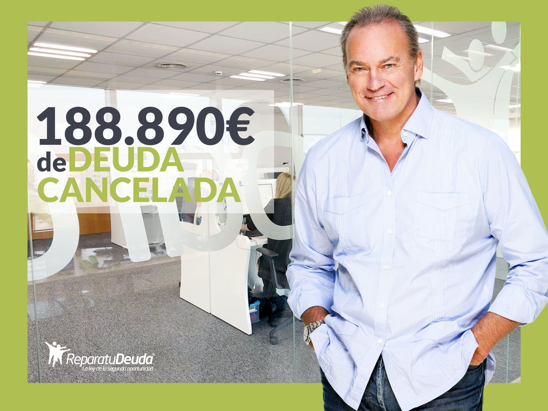 Repara tu Deuda Abogados cancela 188.890 ? en Barcelona con la Ley de Segunda Oportunidad