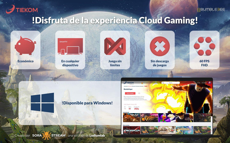 Fotografia Servicio Cloud Gaming Tiekom + Ludium