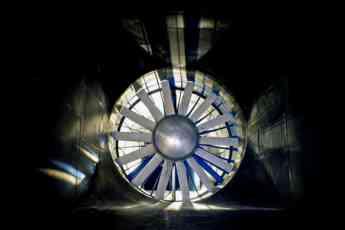 Interior de túnel de viento