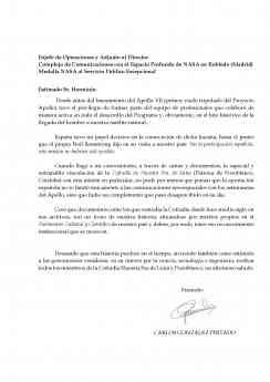 Carta de apoyo Carlos González Pintado