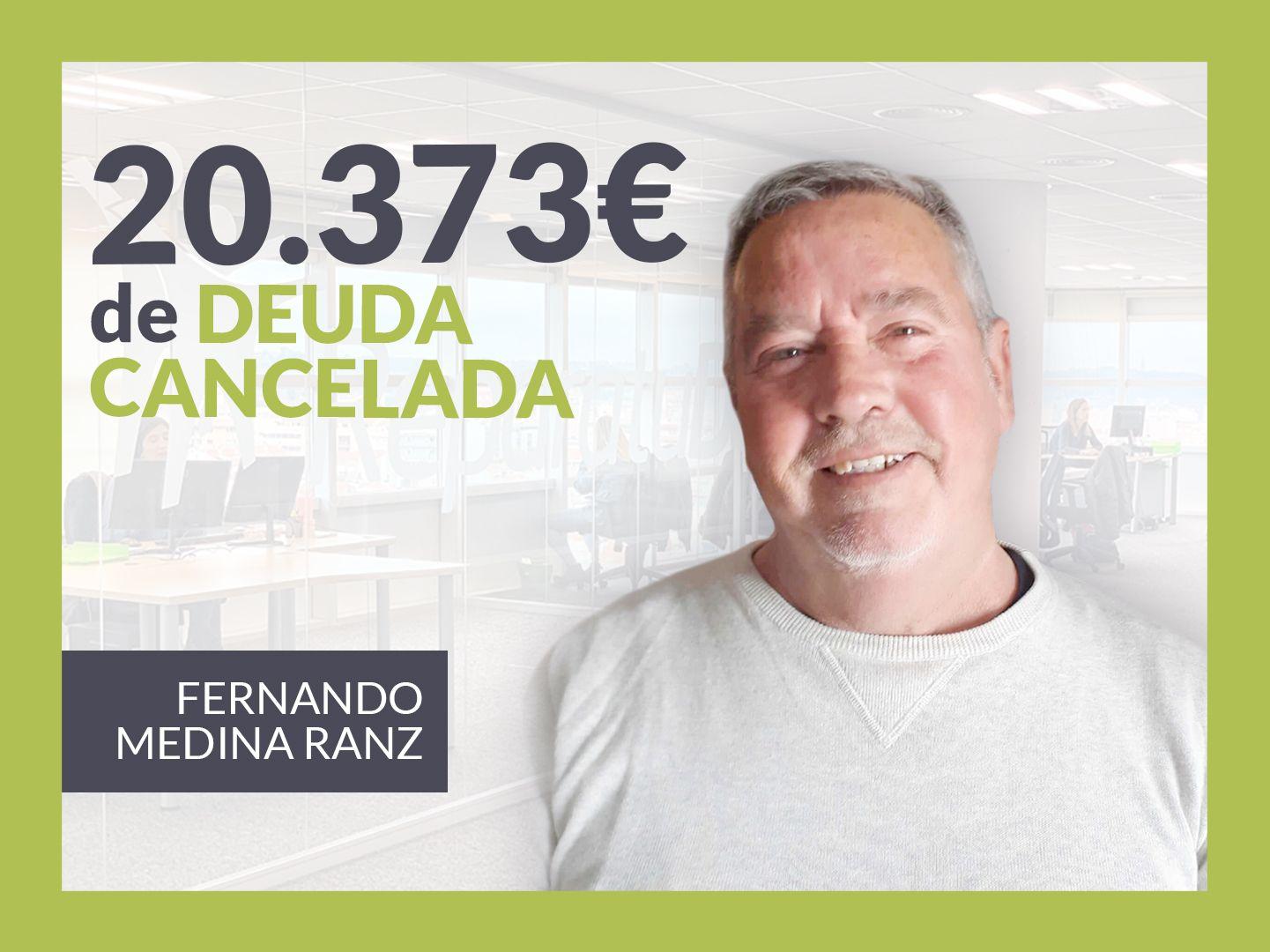 Fotografia Fernando Medina, exonerado con Repara Tu Deuda con la Ley