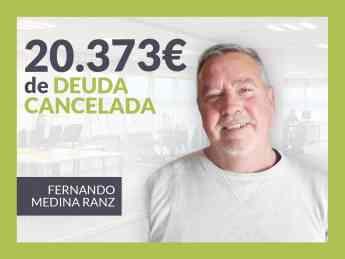 Fernando Medina, exonerado con Repara Tu Deuda con la Ley de Segunda