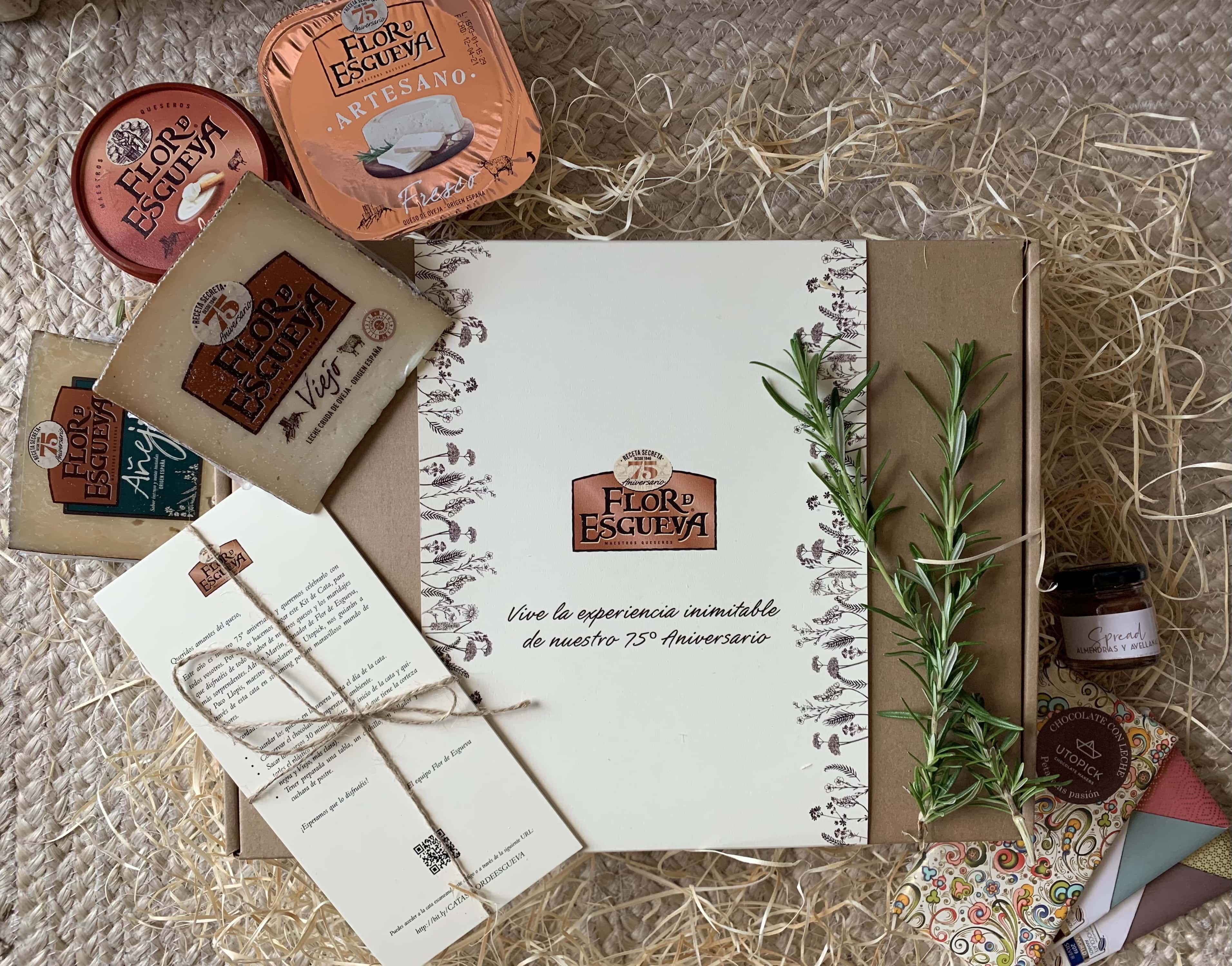 Fotografia Kit de cata quesos Flor de Esgueva y chocolates Utopick