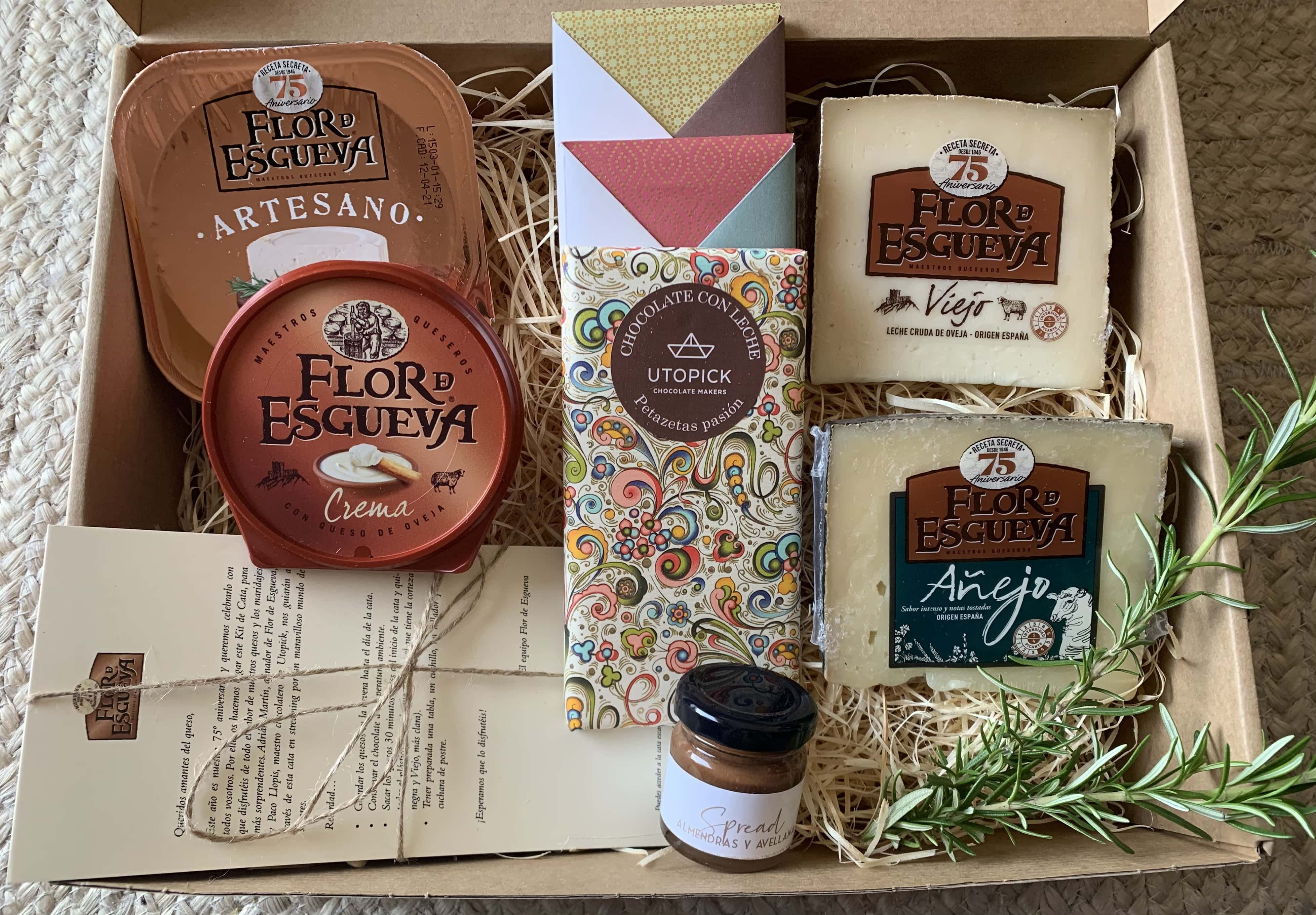 Fotografia Kit de cata quesos Flor de Esgueva y chocolates Utopick 2