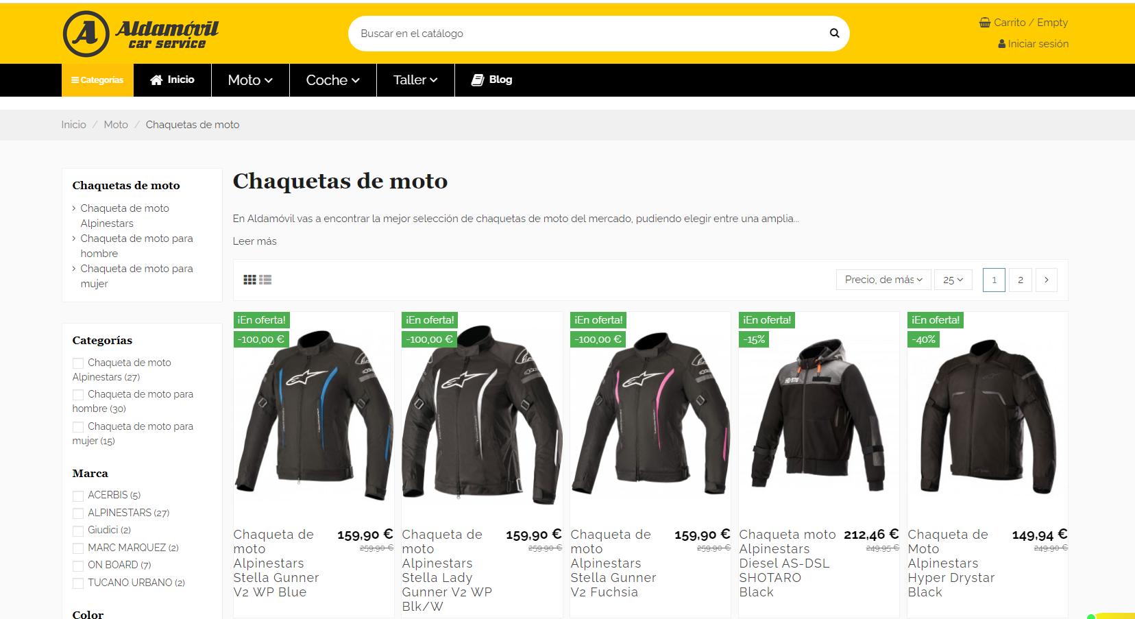 Nuevos modelos de chaqueta de moto en Aldamovil.com
