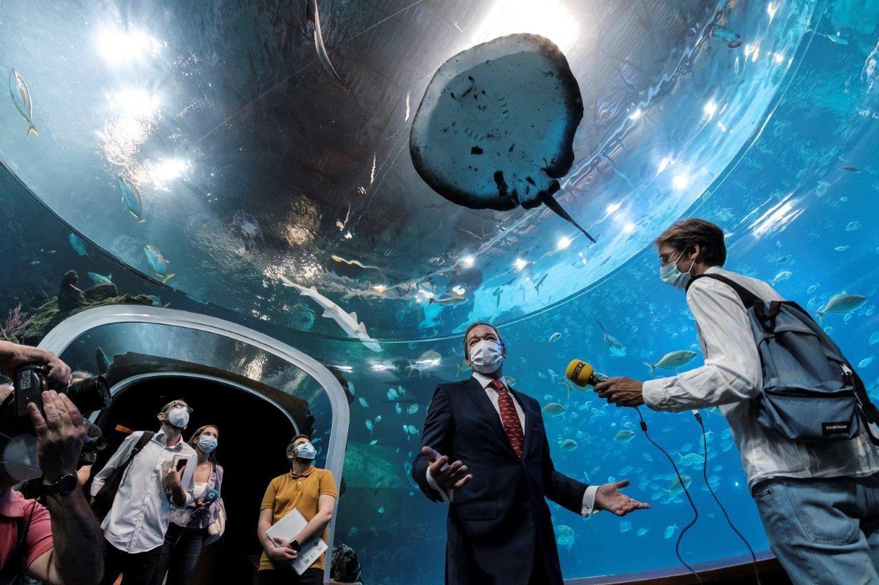 Fotografia El gran acuario Poema del Mar reabre sus puertas al