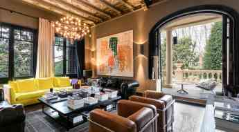 Foto de Detall interior de la gran sala de Villa Narcissa