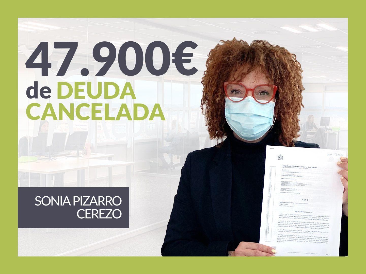 Foto de Sonia Pizarro, exonerada con Repara Tu Deuda con la Ley de