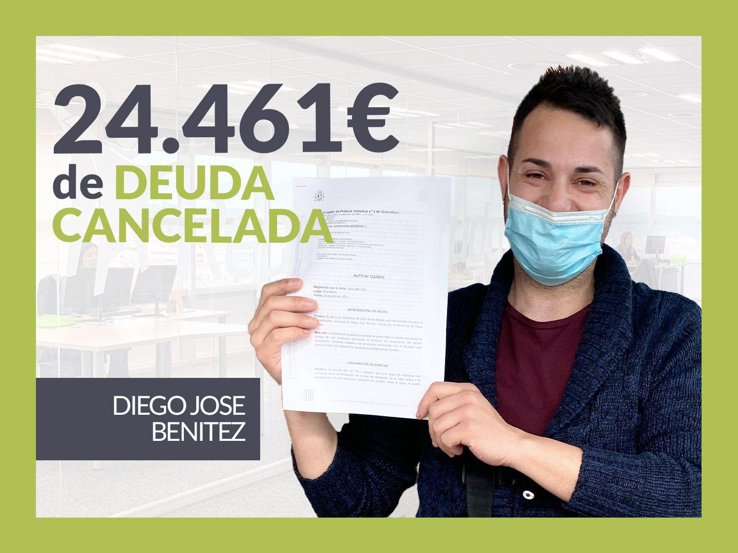 Foto de Diego José Benítez, exonerado con Repara Tu Deuda con la