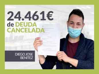 Diego José Benítez, exonerado con Repara Tu Deuda con la Ley de Segunda Oportunidad
