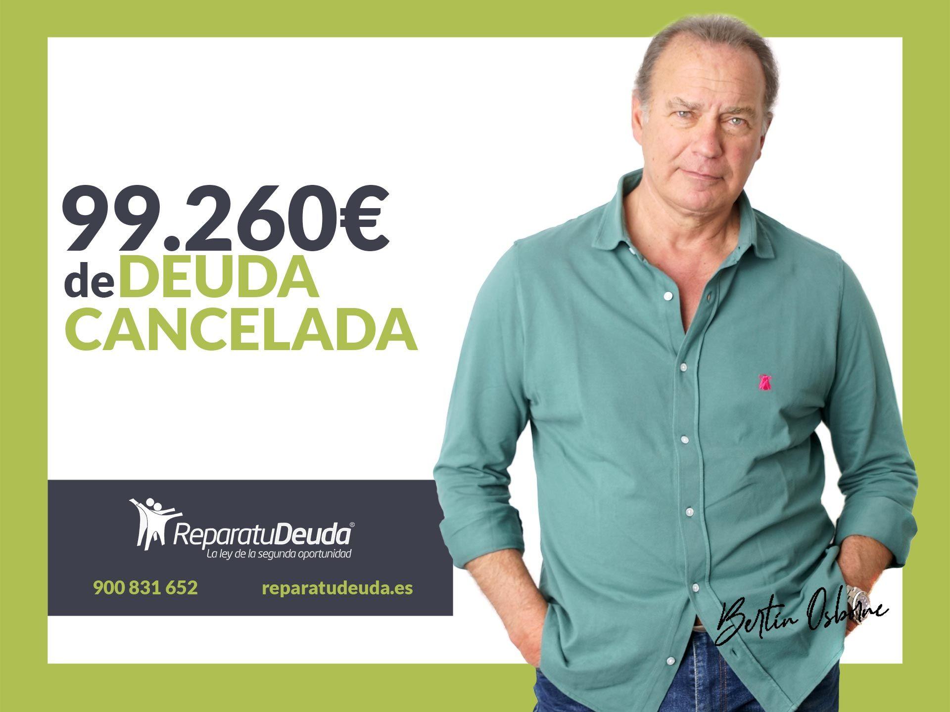 Repara tu Deuda Abogados cancela 99.260 ? en Madrid con la Ley de la Segunda Oportunidad